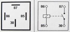 Relay 4-pin 12v 30A. Open