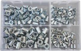 Assorted Flanged Nutserts 4mm-8mm (200)