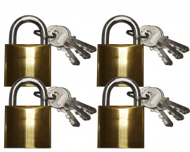 Keyed Alike (4 x 40mm security padlocks) - 12 keys