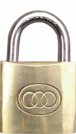 Brass Padlock 30mm - 3 keys