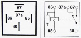 Relay 5-pin 12v 40A Changeover with Resistor