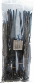 200 Black Releasable Cable Ties - Assorted Sizes