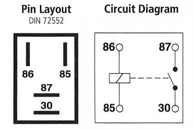 Micro Relay 4pin 12v 20a